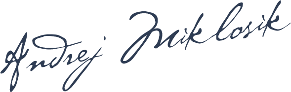 Signature of Andrej Miklosik, Founder of Catnapweb